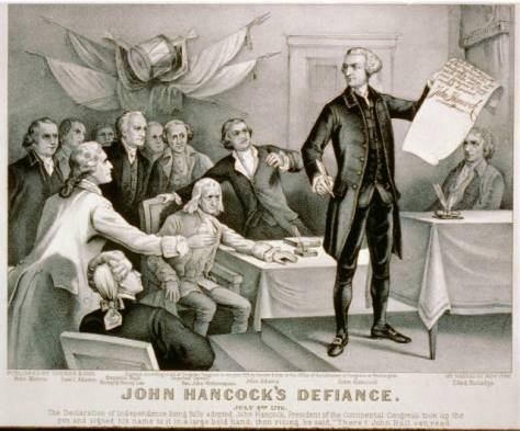 John Hancock's defiance: July 4th 1776