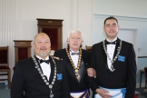 Dave Hodges, Grand Master-MW Gerald J. Sharpe, & Lukasz Hrabski