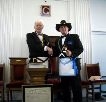 Grand Master-MW Gerald J. Sharpe and WM Steven Friedrich